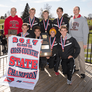 2017 3A XC State Champions posing for a photo