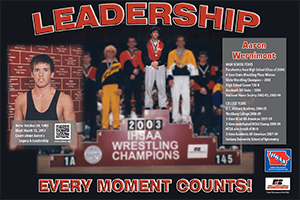 Graphic of the Aaron Wernimont poster