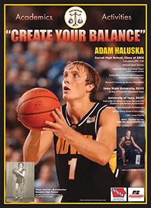 Graphic of Adam Haluska poster