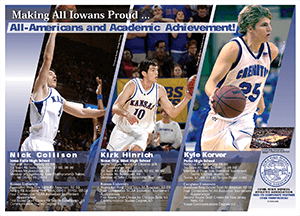 Poster of All American basketball players