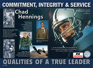 Graphic of Chad Hennings poster