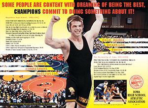 Poster of wrestler Eric Juergens