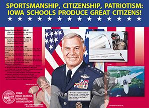 IHSAA poster showing servicemen