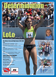 Graphic of the Lolo Jones poster