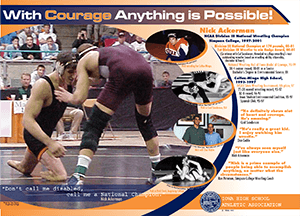 Poster of wrestler Nick Ackerman