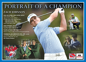 Graphic of the Zach Johnson poster