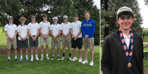 IHSAA golf players posing for a photo