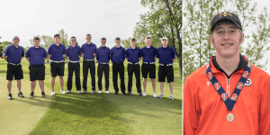 Image of a group of IHSAA golf players