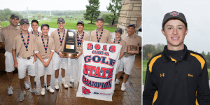 Image of a group of IHSAA 2018 4A Golf State Champions