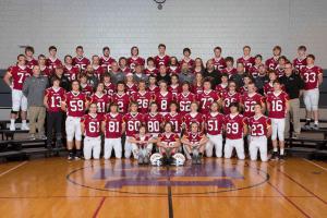 Photo of an entire IHSAA football team