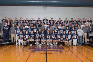 IHSAA Xavier Football Team posing for a photo