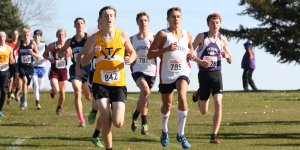 XC runners competing on a sunny day
