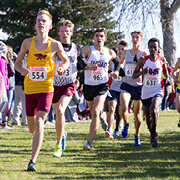 Image of cross country runners during a meet