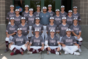 Image of Newman baseball team posing for a picture