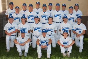 Image of the Bulldogs baseball team posing for a picture