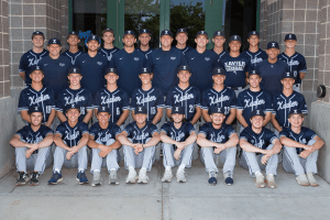 Image of Xavier baseball team posing for a picture