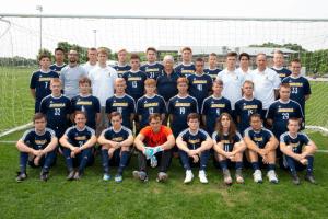 IHSAA soccer team posing for a photo