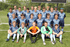 IHSAA Titans soccer players posing for a photo