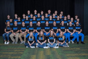 IHSAA Bosco team posing for a photo