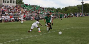 IHSAA soccer game in motion