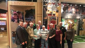 Image of a group of people in the Iowa Hall of Fame