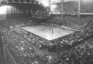 Image of a 1953 basketball match