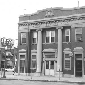 View of the IHSAA office in 1944