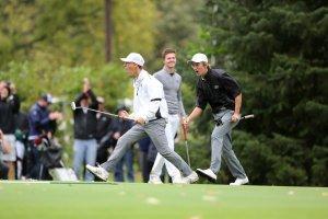 Celebration during a golf meet