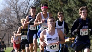 Cross country runners participating in a meet